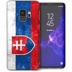 Caseflex szilikon tok Retro Slovakia Flag Samsung Galaxy S9