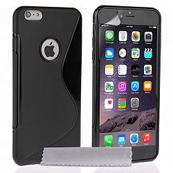 Caseflex szilikon tok S-Line Gel iPhone 6/6s Plus Fekete