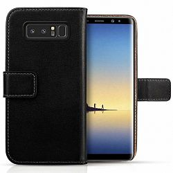 Centopi bőrtok Real Leather Wallet Samsung Galaxy Note 8 Fekete