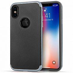 Centopi Carbon Fibre TPU Gel szilikon tok iPhone X/XS, fekete
