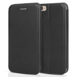 Centopi Flip bőrtok Leather Stand Wallet iPhone 6/6s Fekete