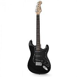 Chord CAL63 elektromos gitár, fekete, 6 húros, éger/jávorfa