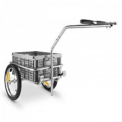 DURAMAXX Bigbig Box bicikli utánfutó, kézi kocsi, 40 l, 40 kg, szürke