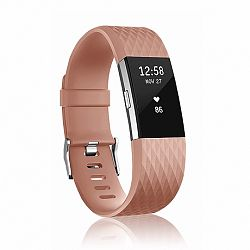Fitbit Charge 2 Silicone Diamond (Large) szíj, Brown
