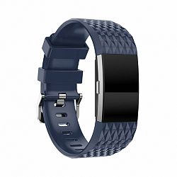 Fitbit Charge 2 Silicone Diamond (Large) szíj, Dark Blue