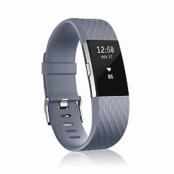 Fitbit Charge 2 Silicone Diamond (Large) szíj, Dark Gray