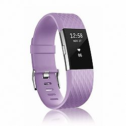 Fitbit Charge 2 Silicone Diamond (Large) szíj, Lavender