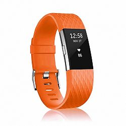 Fitbit Charge 2 Silicone Diamond (Large) szíj, Orange