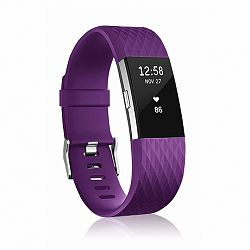 Fitbit Charge 2 Silicone Diamond (Large) szíj, Purple