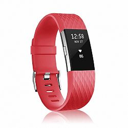 Fitbit Charge 2 Silicone Diamond (Large) szíj, Red