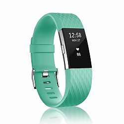 Fitbit Charge 2 Silicone Diamond (Large) szíj, Teal