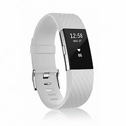 Fitbit Charge 2 Silicone Diamond (Large) szíj, White