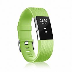 Fitbit Charge 2 Silicone Diamond (Small) szíj, Green