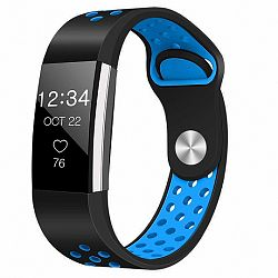 Fitbit Charge 2 Silicone Sport (Large) szíj, Black/Blue