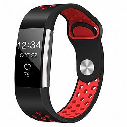 Fitbit Charge 2 Silicone Sport (Large) szíj, Black/Red