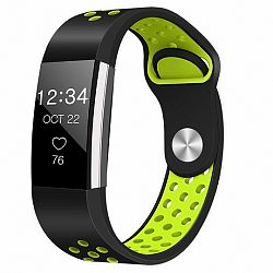 Fitbit Charge 2 Silicone Sport (Small) szíj, Black/Green