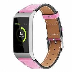 Fitbit Charge 3 Leather Italy (Large) szíj, Pink