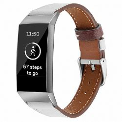 Fitbit Charge 3 Leather Italy (Small) szíj, White