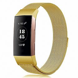 Fitbit Charge 3 Milanese (Large) szíj, Gold