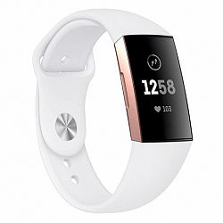 Fitbit Charge 3 Silicone (Small) szíj, White