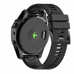 Garmin Fenix 5 Silcone Acton szíj, Black