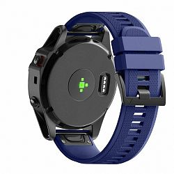 Garmin Fenix 5 Silcone Acton szíj, Dark Blue