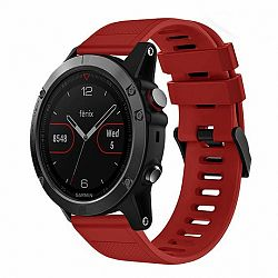 Garmin Fenix 5 Silcone Acton szíj, Dark Red