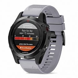 Garmin Fenix 5 Silcone Acton szíj, Gray