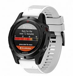 Garmin Fenix 5 Silcone Acton szíj, White