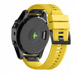 Garmin Fenix 5 Silcone Acton szíj, Yellow Amber