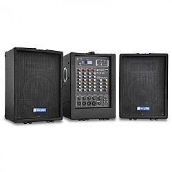 Hordozható PA Skytec PA 100 renszer, USB, MP3, 4 csatornás
