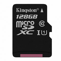 Kingston Canvas SeIect microSDXC 128GB UHS-I U1 Class 10 (SDCS/128GBSP)