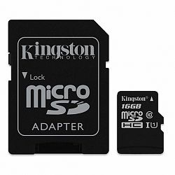 Kingston Canvas Select microSDHC 16GB UHS-I U1 + adapter (SDCS/16GB)