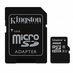 Kingston Canvas Select microSDHC 32GB UHS-I U1 + adapter (SDCS/32GB)