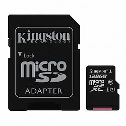 Kingston Canvas Select microSDXC 128GB UHS-I U1 + adapter (SDCS/128GB)