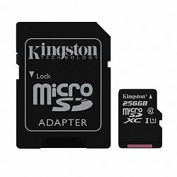 Kingston Canvas Select microSDXC 256GB C10 UHS-I + adapter (SDCS/256GB)