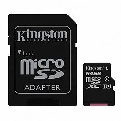 Kingston Canvas Select microSDXC 64GB UHS-I U1 + adapter (SDCS/64GB)
