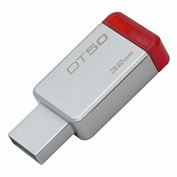 Kingston DataTraveler 50 32GB USB 3.1, fém piros (DT50/32GB)
