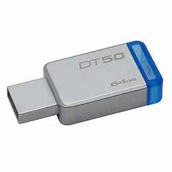 Kingston DataTraveler 50 64GB USB 3.1, fém kék (DT50/64GB)