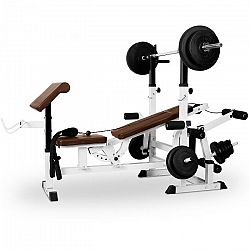 KLARFIT edzőpad, bench press, curl pult, butterfly
