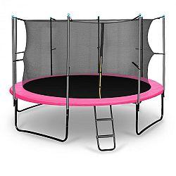KLARFIT Rocketgirl 366, 366 cm trambulin, belső biztonsági háló, széles létra, rózsaszín
