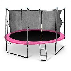 KLARFIT Rocketgirl 430, 430 cm trambulin, belső biztonsági háló, széles létra, rózsaszín