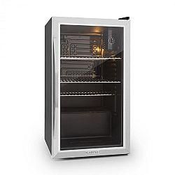 Klarstein Beersafe XXL hűtőszekrény, 85 l, C osztály, üvegajtó, rozsdamentes acél