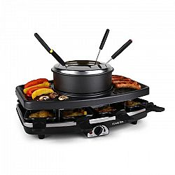 Klarstein Entrecote raclette grillező, terméskő, fondue, 1100 W, 8 fő