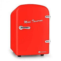 Klarstein Mini Taverna, hűtőszekrény, 4 l, piros