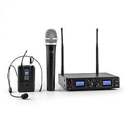 Malone Duett Pro V3, 2 csatornás UHF vezeték nélküli mikrofon készlet, 50 m-es hatókör