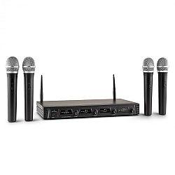 Malone Duett Quartett Fix V1, 4 csatornás UHF vezeték nélküli mikrofon készlet, 50 m-es hatókör