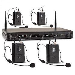 Malone Duett Quartett Fix V3, 4 csatornás UHF vezeték nélküli mikrofon készlet, hatókör 50 m