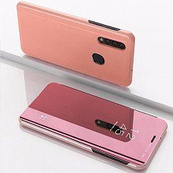 MG Clear View könyv tok Samsung Galaxy A50, rózsaszín