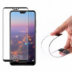 MG kijelzővédő üveg Full Cover Flexi Nano Glass Hybrid Huawei P20, fekete
